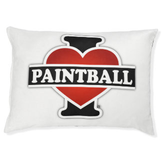 I Love Paintball Pet Bed