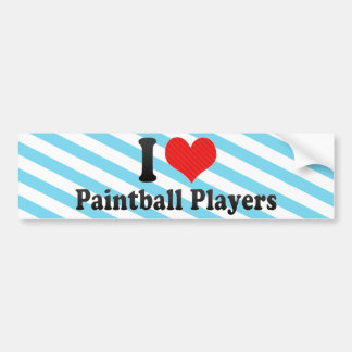 I Love Paintball Players Bumper Sticker