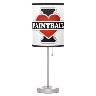 I Love Paintball Table Lamp