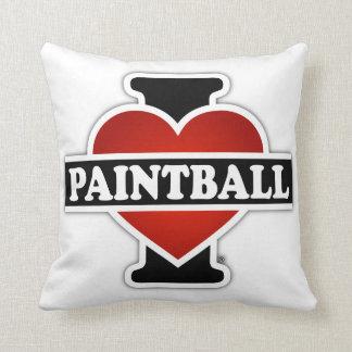 I Love Paintball Throw Pillow