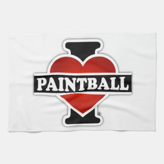 I Love Paintball Towel