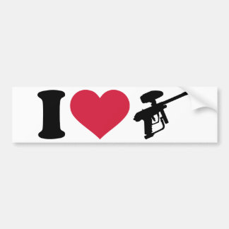I love Paintball weapon Bumper Stickers