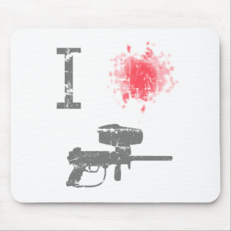 I Love Paintballing Mouse Pad