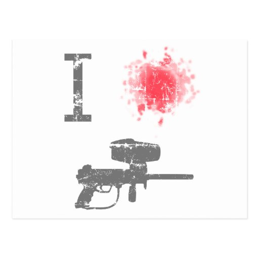 I Love Paintballing Postcard