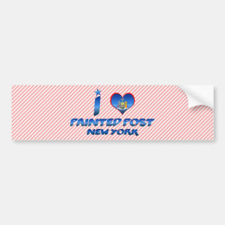 I love Painted Post, New York Car Bumper Sticker