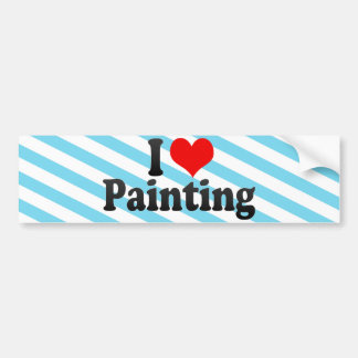 I Love Painting Bumper Sticker