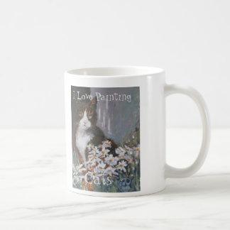 I Love Painting Cats. Tabby cats. Pets Coffee Mug