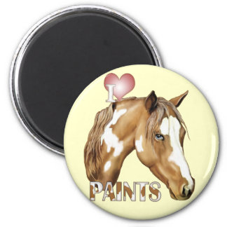 I Love Paints 2 Inch Round Magnet