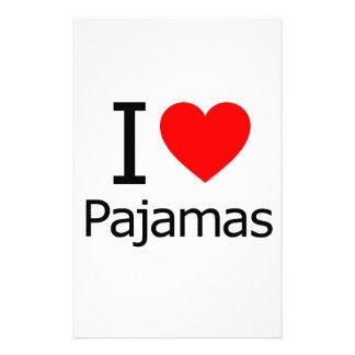 I Love Pajamas Customized Stationery