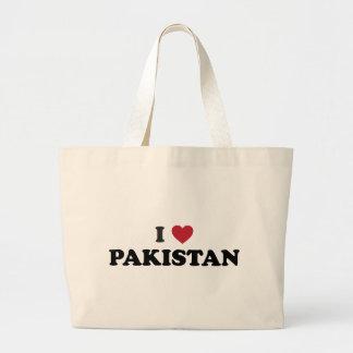 I Love Pakistan Tote Bags