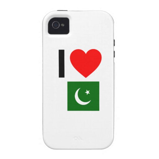 i love pakistan Case-Mate iPhone 4 covers