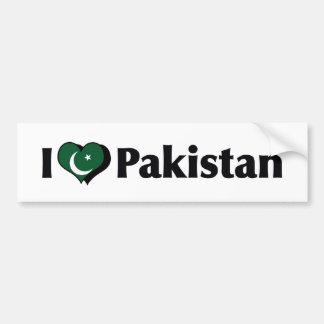I Love Pakistan Flag Bumper Sticker