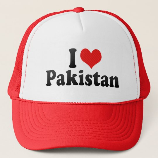 I Love Pakistan Trucker Hat