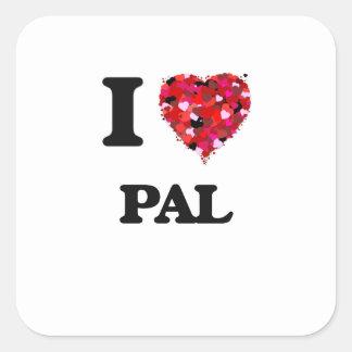 I Love Pal Square Sticker