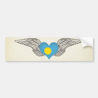 I Love Palau -wings Bumper Stickers