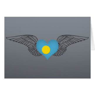 I Love Palau -wings Greeting Cards