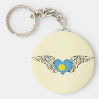 I Love Palau -wings Keychain