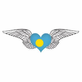 I Love Palau -wings Photo Cut Out