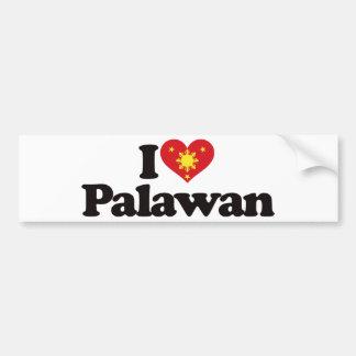 I Love Palawan Car Bumper Sticker
