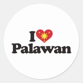 I Love Palawan Classic Round Sticker