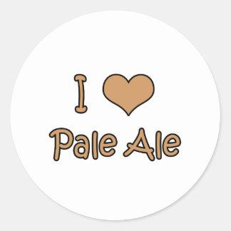 I Love Pale Ale Classic Round Sticker