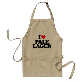 I LOVE PALE LAGER ADULT APRON