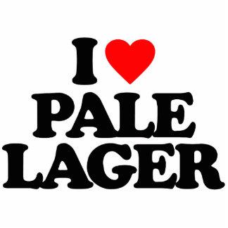 I LOVE PALE LAGER PHOTO SCULPTURE MAGNET