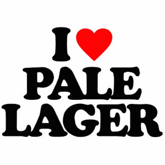 I LOVE PALE LAGER STANDING PHOTO SCULPTURE