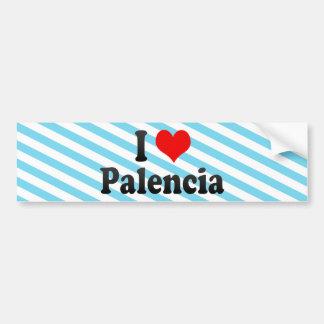 I Love Palencia, Spain Car Bumper Sticker