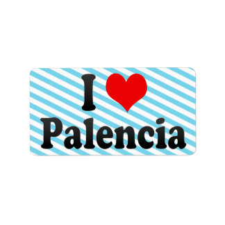I Love Palencia, Spain Personalized Address Labels