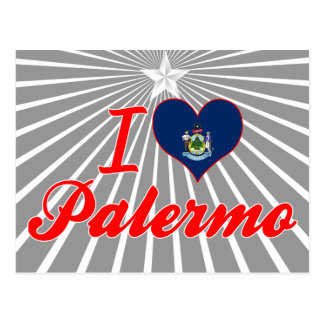 I Love Palermo, Maine Postcard
