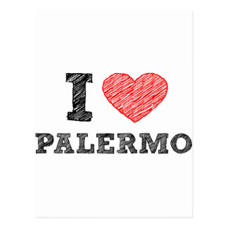 I love Palermo Postcard