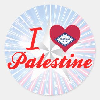 I Love Palestine, Arkansas Round Stickers