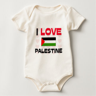 I Love Palestine Baby Bodysuit