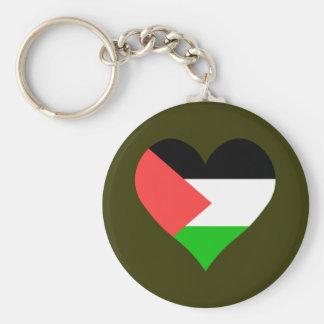 I Love Palestine Basic Round Button Keychain