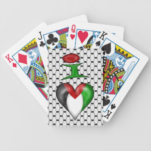I love Palestine Bicycle Playing Cards