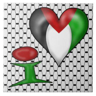 I love Palestine Ceramic Tile