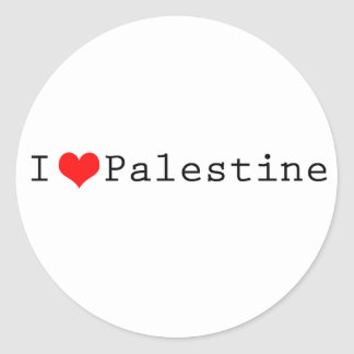 I love Palestine Classic Round Sticker