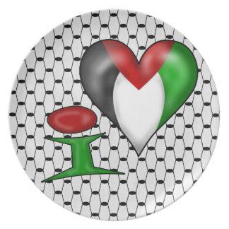 I love Palestine Dinner Plate