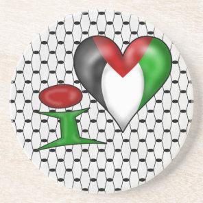 I love Palestine Drink Coaster
