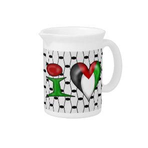 I love Palestine Drink Pitcher