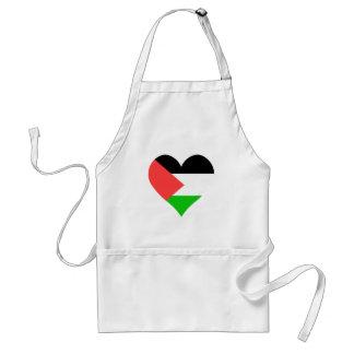 I Love Palestine Heart Apron
