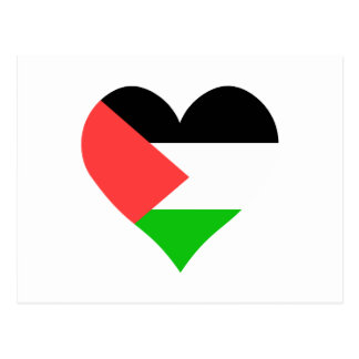 I Love Palestine Heart Postcard