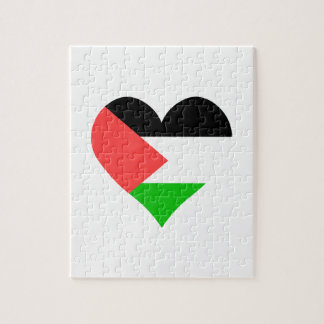 I Love Palestine Heart Jigsaw Puzzles