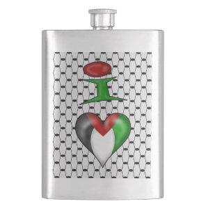 I love Palestine I Heart Palestine Hip Flask
