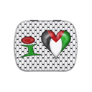 I love Palestine I Heart Palestine Jelly Belly Candy Tin
