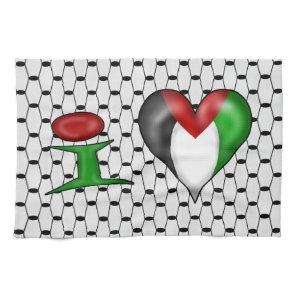 I love Palestine I Heart Palestine Kitchen Towel