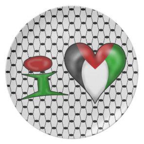 I love Palestine I Heart Palestine Melamine Plate