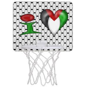 I love Palestine I Heart Palestine Mini Basketball Hoop