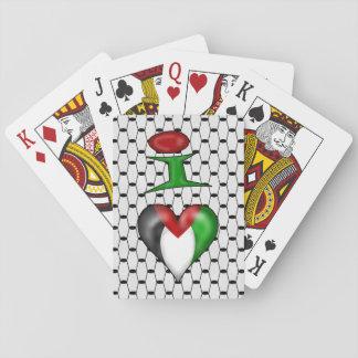 I love Palestine I Heart Palestine Playing Cards